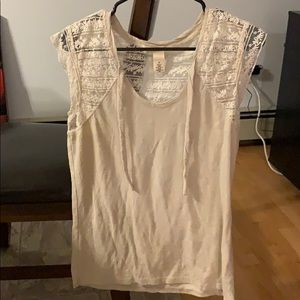 DKNY white lace Top